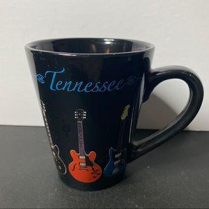 Scott Tennessee Stoneware Coffee Mug with Guitars